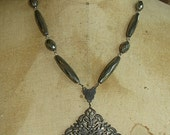 French Crest Medallion Necklace from Bretagne Brittany