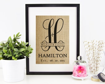 Rustic Wedding Decor | Burlap Monogram | Shabby Chic Wedding Decoration | Personalized Burlap Wedding Decor | Reception Decor