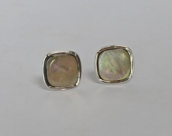 Handsome 1950s Vintage Swank Cuff Links Mother of Pearl Formals Weddings