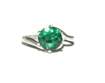 Green Amethyst Ring, Sterling Silver Ring With Prasiolite Stone, Green Stone Ring