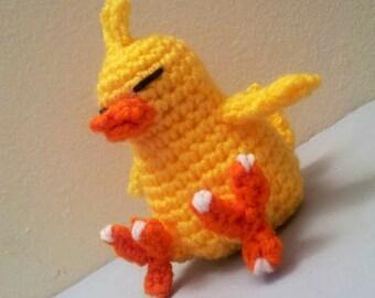 Crochet Chubby Chick Amigurumi Doll - Stuffed/Plush Toy