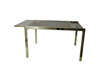 DIA Brass Extension Dining Table. 70's