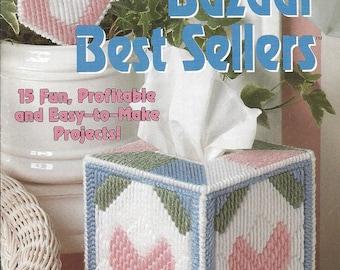 Bazaar Best Sellers Plastic Canvas Pattern - The Needlecraft Shop - Tissue Box Cover, Southwest Coasters, Mini Baskets, Siesta Set