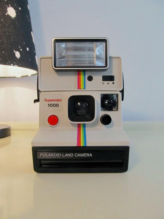 polaroid camera supercolor 1000 rainbow land camera sx 70 type. Black Bedroom Furniture Sets. Home Design Ideas
