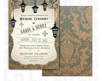 New Orleans Wedding Invitation Wedding Invitations New Orleans Etsy