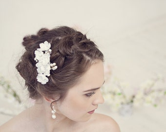 Silk Bridal Headpiece, Bridal Hair Flower Comb, Wedding Hairpiece, Wedding Flower Hair Comb, Bridal Hair Accessory, Wedding Hair Accessories