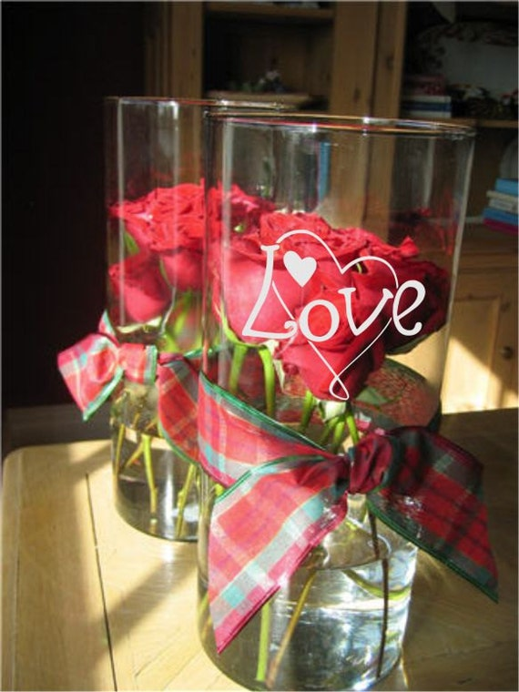 Items similar to personalized wedding centerpieces glass