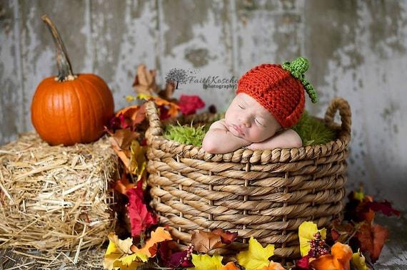 Baby boy hats - Baby girl hats - Pumpkin baby boy hat - Infant newborn knitted  baby beanie halloween newborn, 0-3m hats gifts