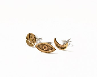 Set of 3 post earrings