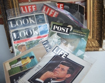 25% OFF SALE from 129: Life, Look, Post, and The Evening Bulletin Magazines (Lot of 13)