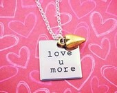 Love You More Necklace, Necklace for Daughter, Anniversary Gift, Valentine's Day Gift, I Love You, Valentine's Day Jewelry, Girlfriend Gift