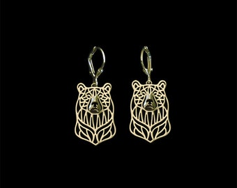 Bear earrings - gold
