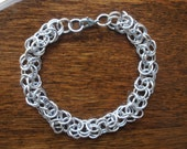 Mens Aluminum Byzantine Weave Chainmaille Bracelet