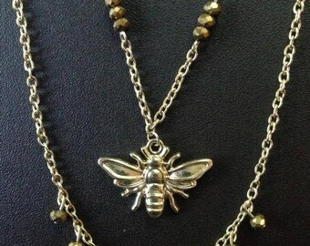 Bee Charm Layered Necklace