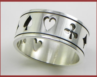 Pocker Ring in Silver 925 - made in italy