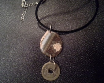 Feng Shui Agate Necklace - Protection and Strength Talisman