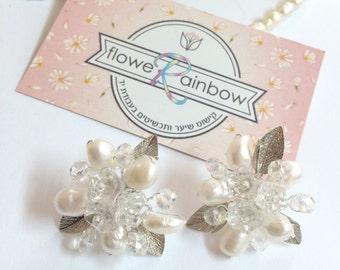 Bridal stud earrings, pearl wedding earrings, bridal studs, wedding studs, pearl studs, pearl bridal earrings, pearl wedding ear studs