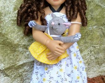 Doll White and Yellow Sundress fits Kidz N Cats Dolls -- Includes BONUS Cat Dress!