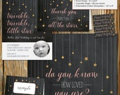 Twinkle, Twinkle, Little Star Birthday Party Invitation Kit