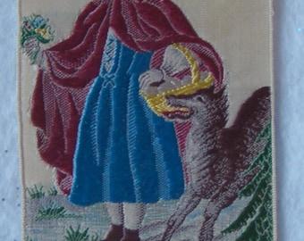 1880's Silk Little Red Riding Hood Book Mark - 14010003
