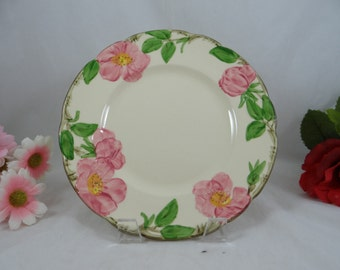 Vintage 1960s  Franciscan Ware Desert Rose Salad Plate - Made in USA - 4 Available