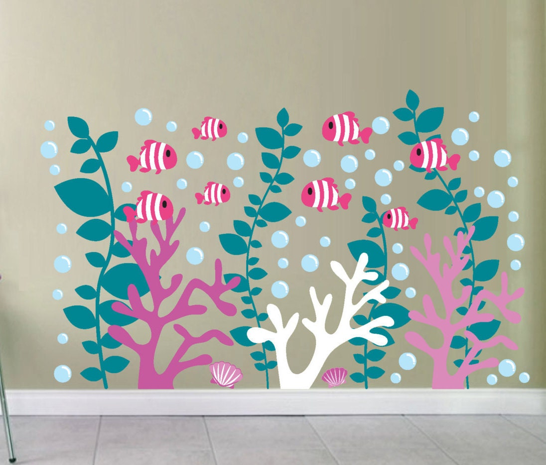 Coral reef decals coral wall decal under the sea decals zoom amipublicfo Gallery