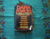 Dark Forces. Horror, Supernatural Short Story Book with Stephen King Ray Bradbury. 1980 Vintage Hardcover First Book Club Edition