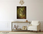 Ready to Hang, Landscape Photograph, Forest Trail, Large Wall Art, Canvas Wall Decor, Choice of Size, Woodland, Trees, Path, Green, Brown
