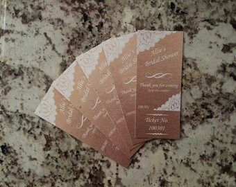 Perforated Rustic Lace Raffle Tickets