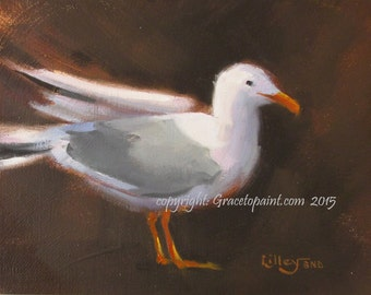 JL Seagull...Original Oil Painting by Maresa Lilley, SND