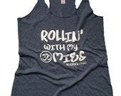 SM Rollin' With My Omies Tank, Yoga Tank, Yoga Top, Yoga Vest, Gym Tank, Gym Top, Gym Shirt, Gym Vest, Workout
