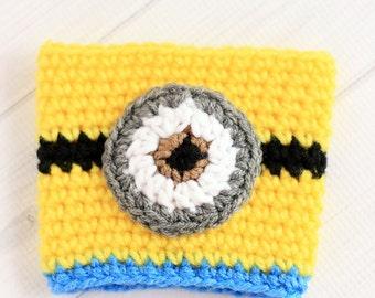 Crochet Minions Coffee Cup Cozy