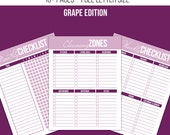 Cleaning Printable Kit - Grape Edition