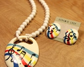 Musical Necklace / Earrings Set, item #156