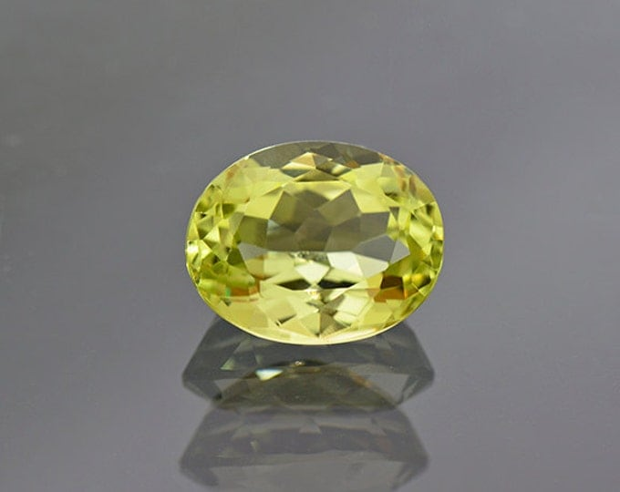 SALE EVENT! Beautiful Rare Yellow Green Sillimanite Gemstone from India 6.03 cts