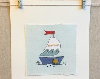 Sailboat Artwork, Sailboat Print