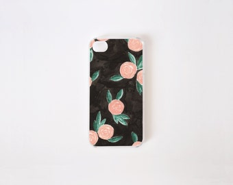 iPhone 4/4s Case - Winter Roses iPhone Case - iPhone 4s case - iPhone 4 case - Hard Plastic or Rubber