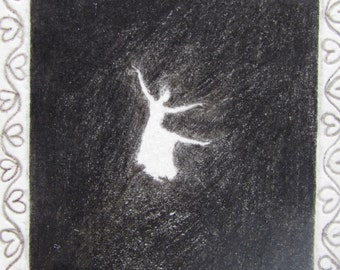 The dancer in the dark-original mini drawing