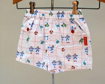 Vintage OSHKOSH kids shorts. Nautical pattern. Kids novelty print. Osh Kosh shorts. Nautical shorts. Kids shorts. Toddler shorts. Size 4-6.