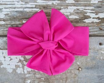 Headwrap Baby Girl Headwrap Pink Headband Baby Big Hair Bow Topknot Headband Baby Turban Baby Gift Girl Head Wraps Turban Bow Headwrap Baby