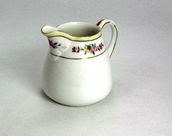 Vintage Nippon Creamer Floral and Gold Trim