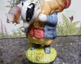 Tommy Brock 1955 Beatrix Potter Figurine Royal Albert England