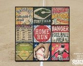 Baseball Wall Art by Aaron Christensen- Multiple Sized Canvas - America's Favorite Pastime for boys, fans & players