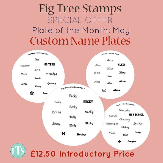 Custom Name Signature Words Nail Stamping Plate by