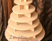 Cupcake Stand  7 Tier Round 200 Cupcakes Threaded Rod and Freestanding Style MDF Wood Cupcake Tower Birthday Wedding Donut  DIY Project