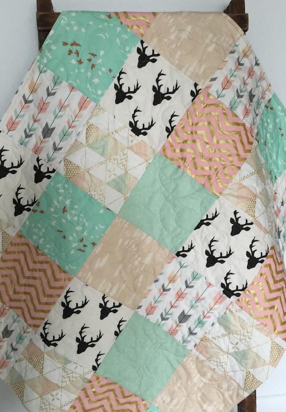 Baby Quilt Girl Blanket Brambleberry Glitz Southwest By