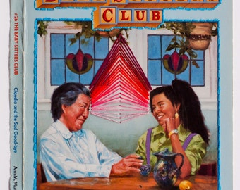 Embroidered Book Cover - The Baby-Sitters Club: Claudia and the Sad Good-bye