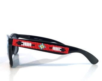 Flower & Arrows Beaded Sunglasses (Polarized)