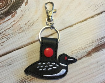 Loon Keychain - Bird Keychain - Divers Keychain - Loon Key Chain - Common Loon