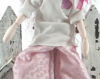 SALE! Art Doll-Karen the Urban Faery OOAK Cloth Doll